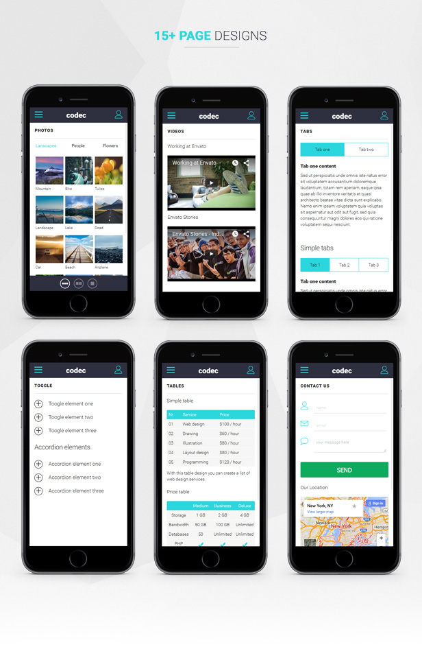 Codec Mobile Template