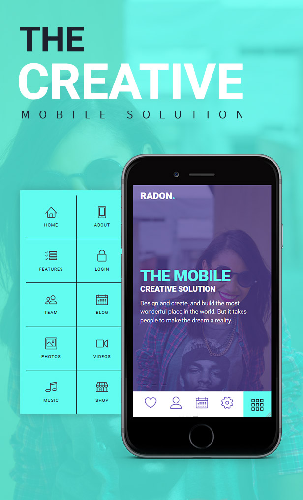 Radon Mobile Template