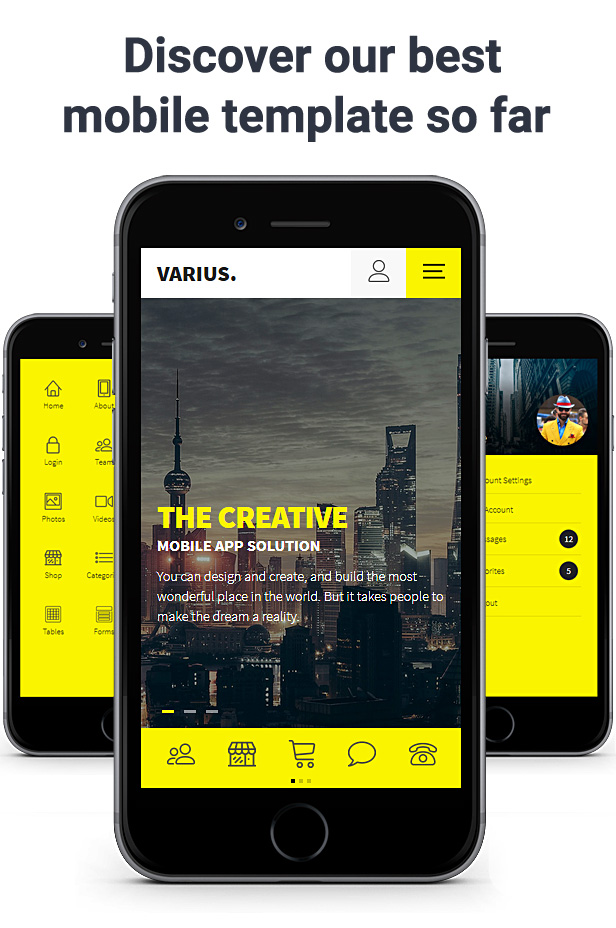 Varius Mobile Template